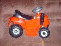 Here is a clean, works great, little power wheels