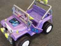 Power Wheels Frozen Jeep. -Retail: $249.99. -Sale