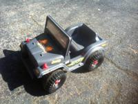 We have a Hotwheels Jeep made by Power Wheels for sale.