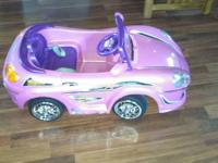 For sale. A gently used battery operated car. It has a