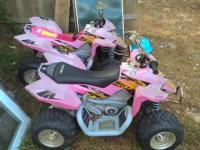 2 power wheels quads with Suzuki stickers need