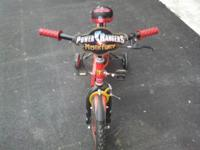 POWER RANGERS BICYCLE ONLY ASKING $14.00 OBO JUST CALL