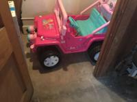 I have a LIKE NEW barbie jeep for sale. It has been in