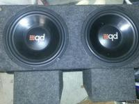 "I'm selling my pair of Powerbass 12"" subs in a custom"