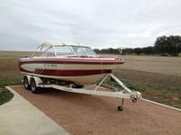 1987 Glastron SSV-199 Solid boat with a powerful 350 HP
