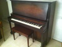 "This piano has a lot of power. It is 55.5"" tall. Just"