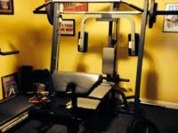 PowerHouse Elite Home Gym Smith bar machine. Includes