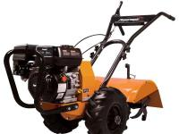 The Powermate 196 cc Rear Tine Tiller works to complete