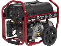 Fresh Powermate gas generator. Generator is rated at