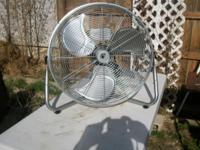 "Powermax High Velocity Fan, 20"": Manual control 110"