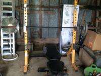 I have a powertec half rack and utility bench you can