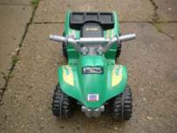 Powerwheel for ages 1-3 yrs old. Push button throttle.