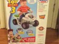 Brand new in unopened box. Power wheels Lil Quad Toy