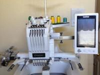 6 Needle PR650 Embroidery Machine,has been serviced