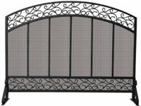 Uniflame S-1324 Single Panel Black Wrought Iron Screen
