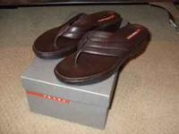 "Prada Womans Sandles/ Shoes Caffe"" Color Sz 38, (Sz 7-"
