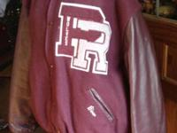 This is a Prairie Ridge High School wool and leather