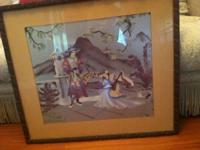 This unusual Chinese Framed Picture has been in my