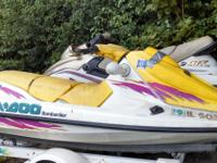 Pre-Owned 1996 Sea-Doo GTI in Yellow Only $499 at Jim