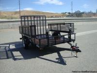 6X10 USED OPEN LANDSCAPE TRAILER FOR SALE 5200LBS