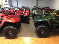 Largest stock of secondhand ATV's in the area, all