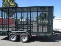 Custom 14' Enclosed Landscape Trailer 7,000lb GVWR,