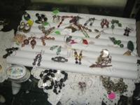 Earring, bracelets and pendants most are previously