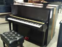 Steinway 1098 ebony satin with artist bench. Owned for