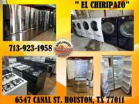 Pre-Owned appliances with 3MONTH WARRANTY! !Come by and