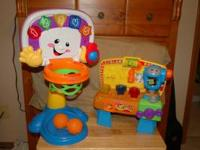 YOU ARE LOOKING AT 2 PRESCHOOL TOYS THAT WORK AND ARE