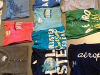 Aeropostale hoodies $6, Abercrombie skirts $3, Aero,