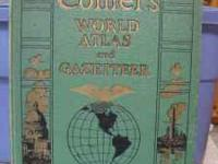Large World War Two vintage Collier's World Atlas and