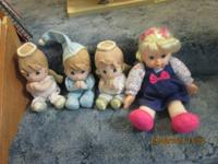 precious moments praying dolls 3.00 each.