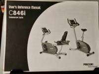 Precor C846i Upright Bike Like New ($700). This