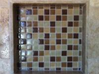 Prepared to tile shower niches. * The ready to tile
