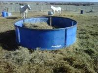 One blue Preifert round bale feeder - 160.00 If