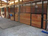 B-K Ranch, a private horse boarding facility, has two