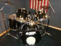 Premier Drum Set 5 Piece Drum Kit Zeldjian Cymbols and