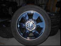 Four wheels and tires as is, perfect condition. Make a