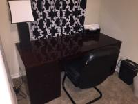 Beautiful dark cherry office desk. All wood, in