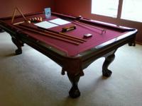 Premium Authentic Brunswick Bradford II Ft Cherry Pool Table For - Brunswick bradford pool table