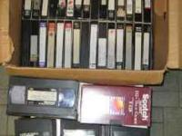I have 61 Prerecorded used VHS tapes, different brands