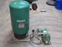 Myers Pressure Tank and Pump - Call . Location: