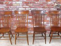 Very nice and genuinely antique set of pretty oak