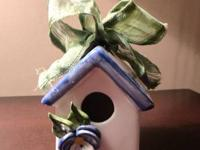 Pretty little birdhouse from Mud Pie. These decorative