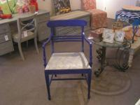 This is a vintage armchair that I've painted a fun