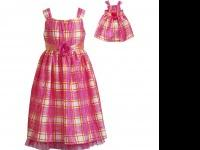 This pink plaid occasion dress is perfect for your
