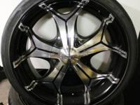 "We are offering these Forte 20"" custom-made rims and"