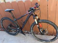 For sale is a like-new race-ready hardtail. I purchased
