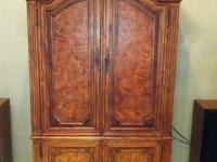 Beautiful pecan-finish, like-new, traditional-style,